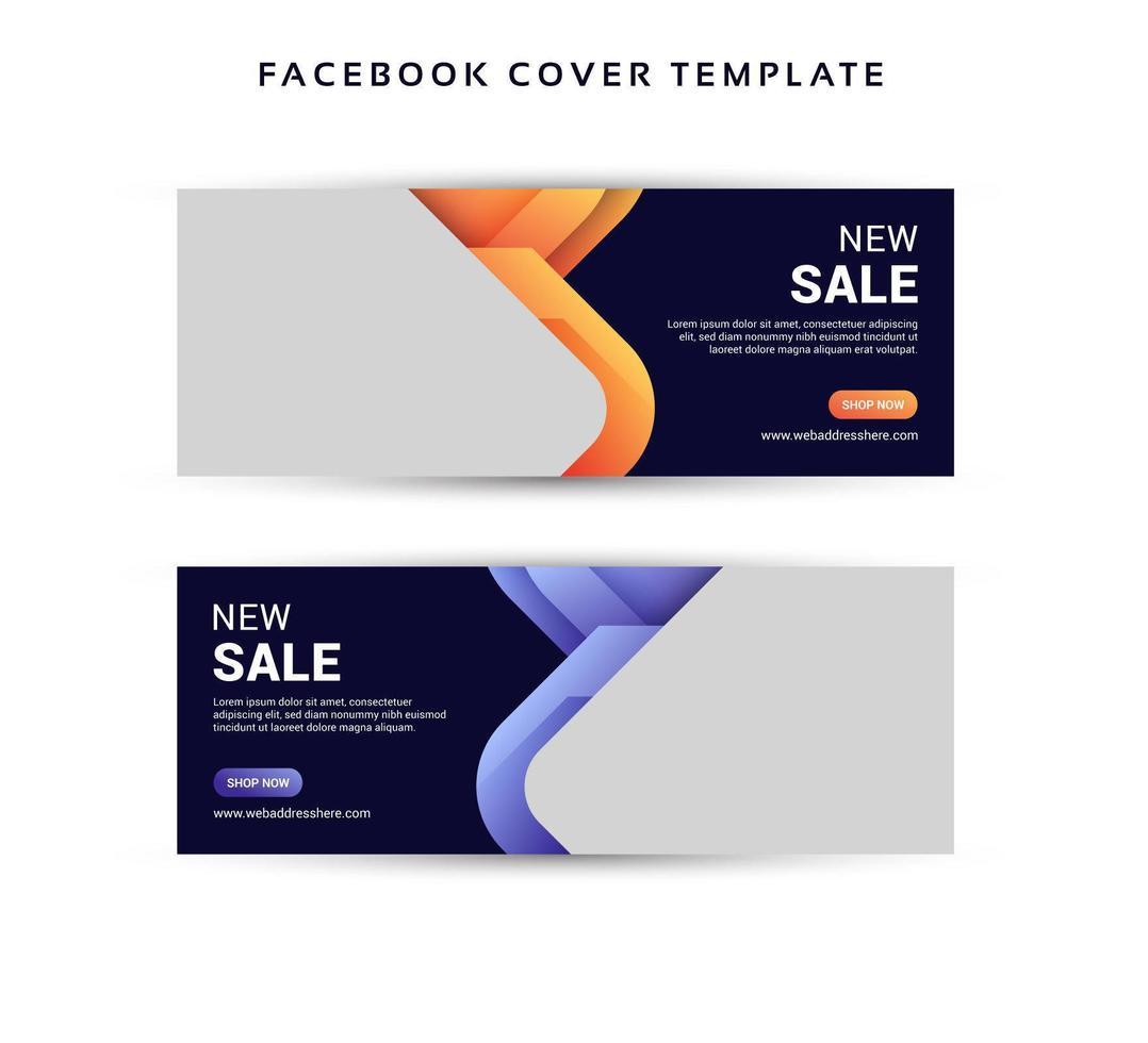 sociala medier försäljningsbanner med rundade överlappande former vektor