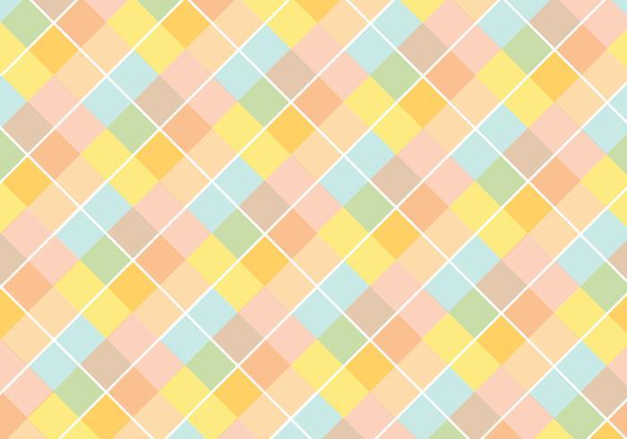 Pastell Diamond Pattern Vector