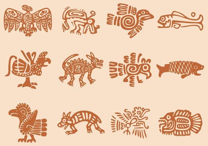 Vor hispanischen Ikonen vektor