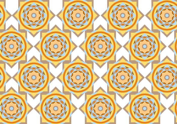 Abstrakt cirkel geometrisk mönster vektor