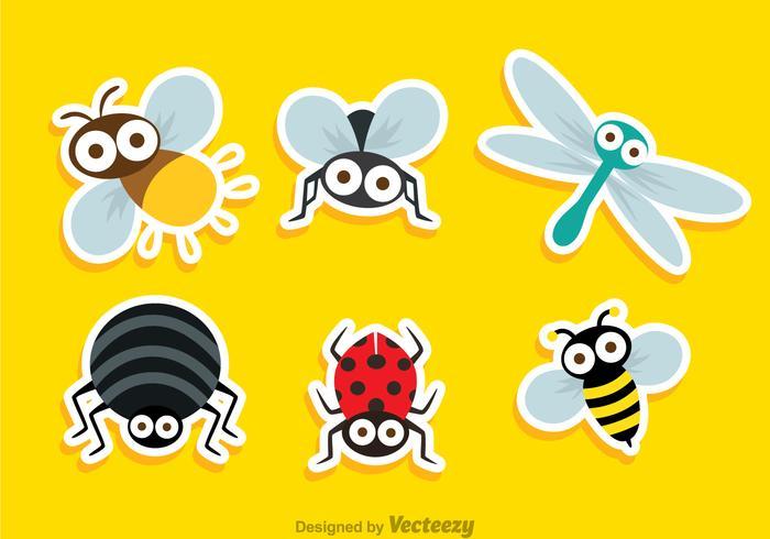 Insekt Netter Aufkleber vektor