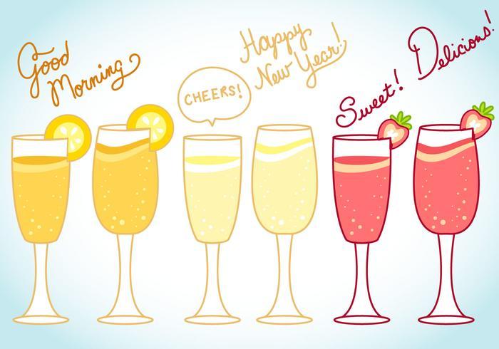 Mimosa och Celebration Vector and Text Art