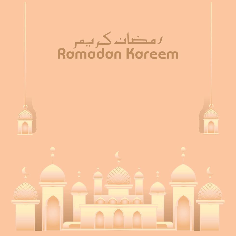 Ramadan Moscheekarte für islamische Feier vektor