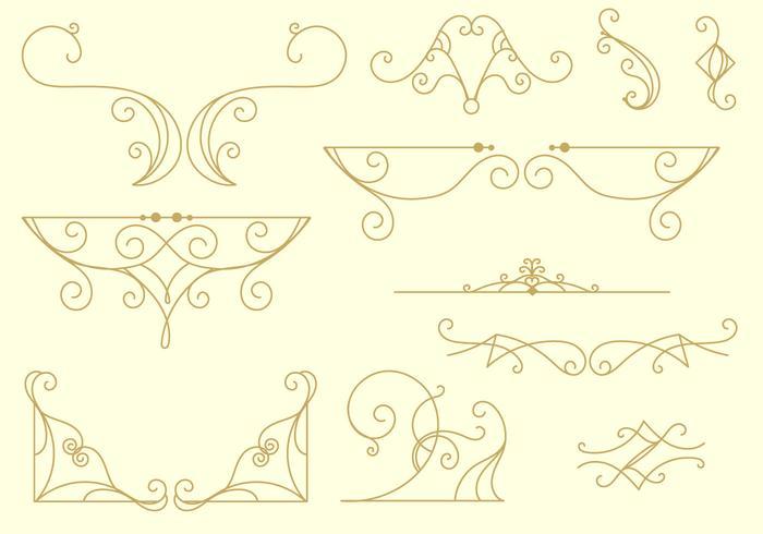 Dekorativa arabesco linjer vektor