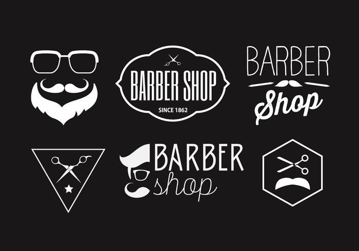 Vector Sammlung von Friseur Abzeichen