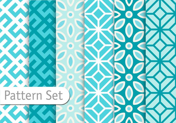 Azuro blå geometriska mönster vektor