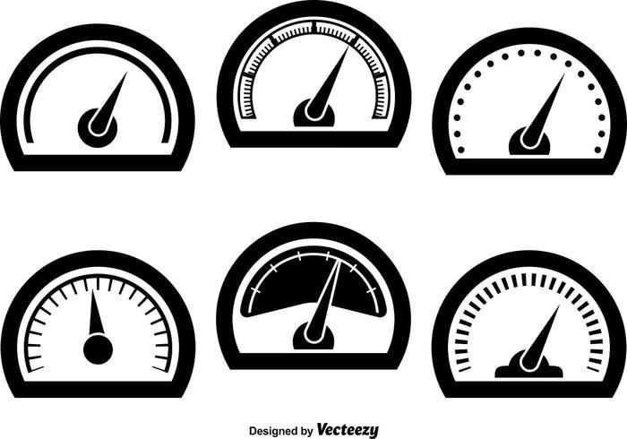 Tachometerikoner vektor
