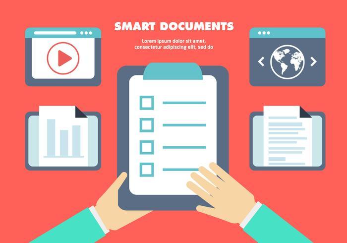 Free Flat Business Dokumente Vektor Hintergrund