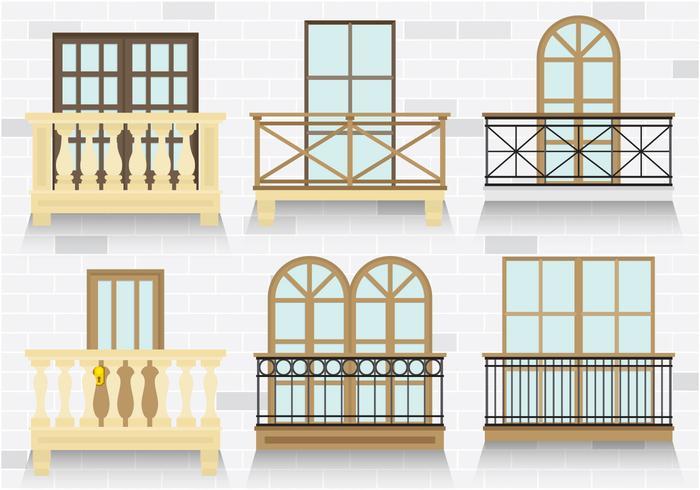 Bunte Balkon Vektoren