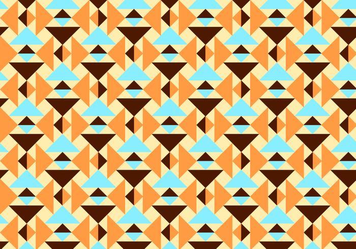Orange und aquamarine abstrakte Muster Vektor