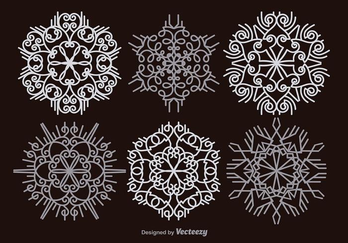 Vita snöflingor vektor