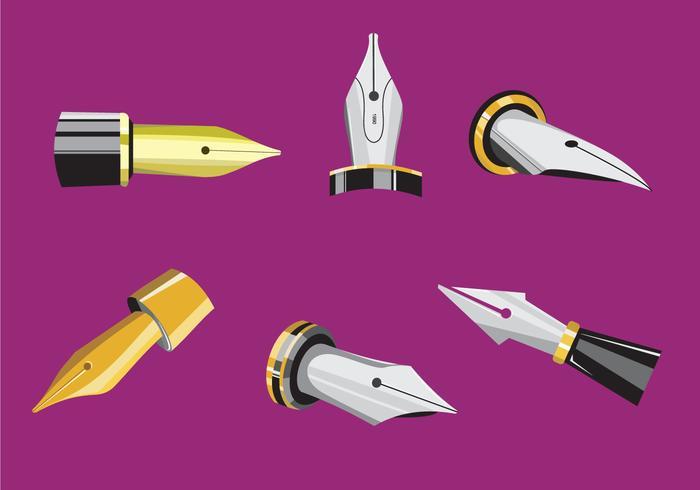 Exklusive Pen Nib Vektoren