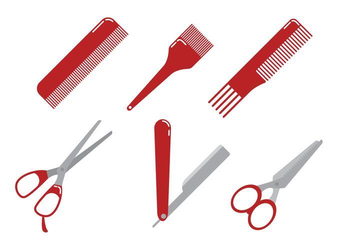 Friseur Werkzeuge Vektor