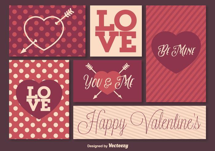 Retro Valentinstag-Elemente vektor