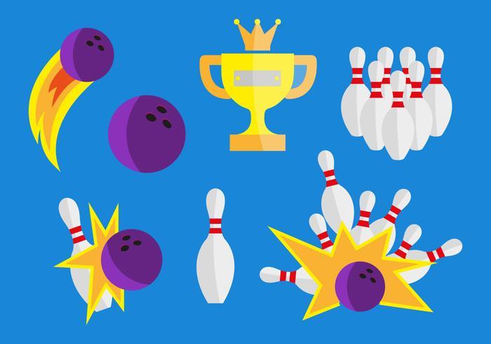 Bowling Vektor-Illustrationen vektor