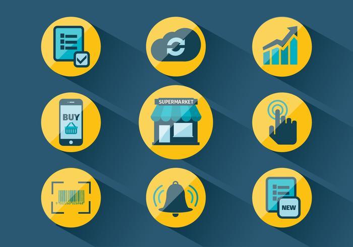 Set von Markt Related Vector Icons