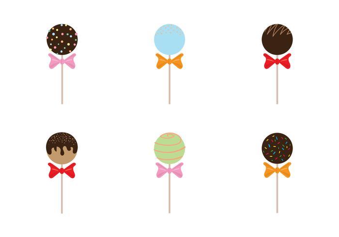 Free Cake Pops Vektor Illustration