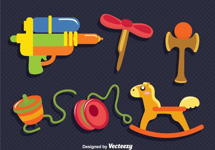 Kinder Spielzeug Vektor Set