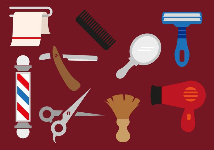Friseur Werkzeuge Vectorial Illustrationen vektor