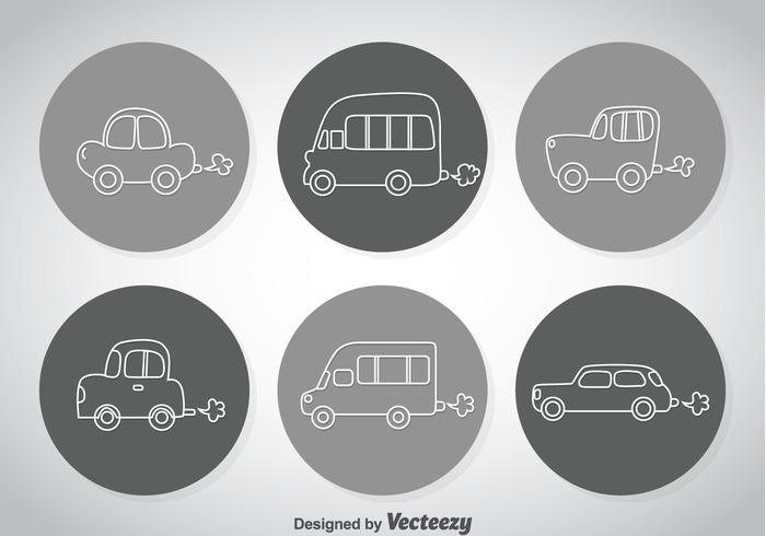 Line Autos Symbole vektor