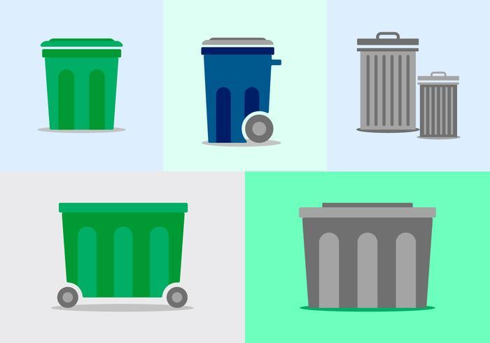 Kostenloser Müllcontainer-Pack vektor