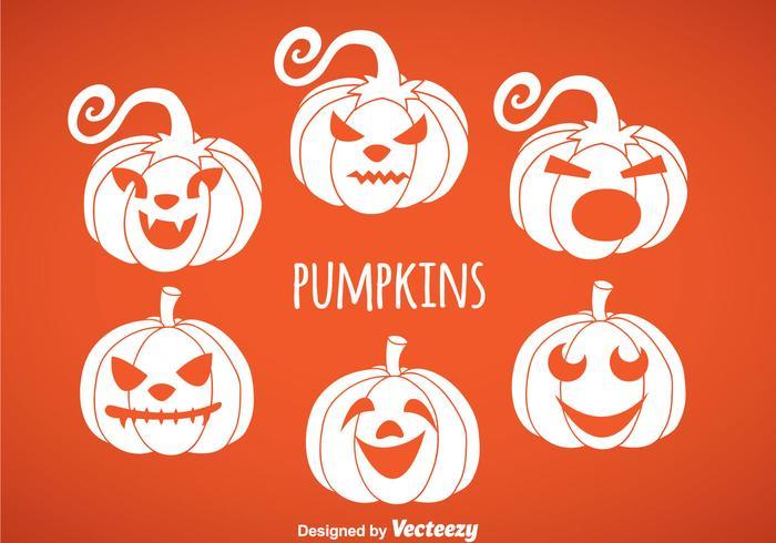 Pumpkin White Icon Vektoren