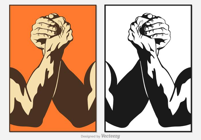Free Arm Wrestling Vektor