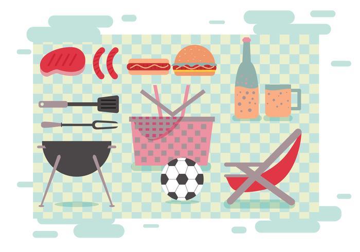 Familien-Picknick-Vektoren vektor