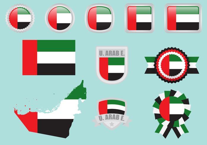 Vereinigte Arabische Emirate Flaggen vektor