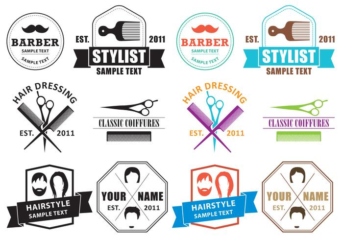 Coiffure logos vektor