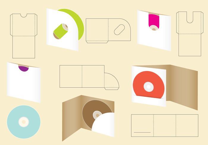 Die Cut CD Umschlag vektor