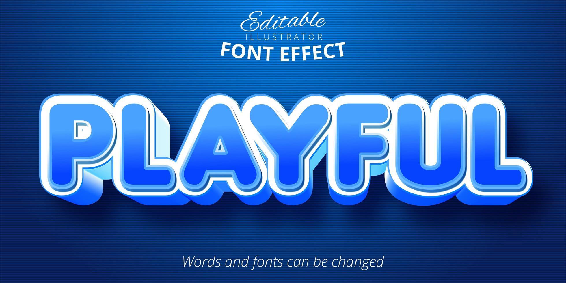 lekfull redigerbar texteffekt vektor