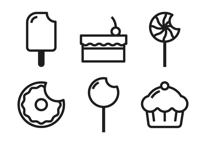 Kuchen Pop Icons vektor