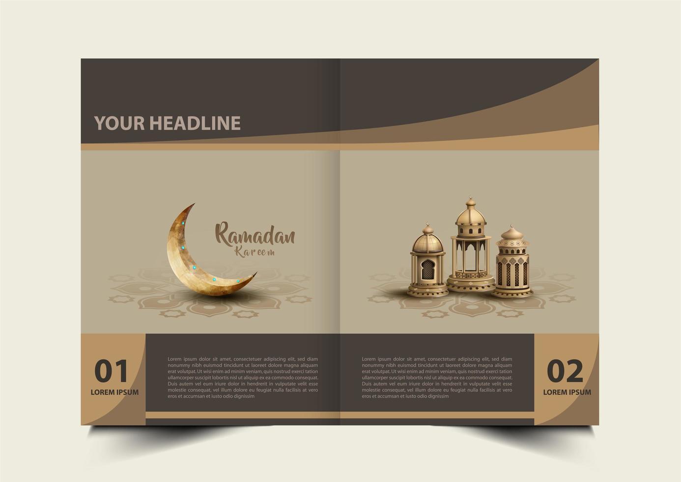 ramadan kareem broschyr vektor