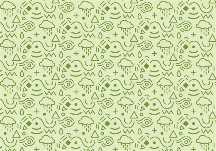 Zusammenfassung Muster Hintergrund mit grünen Formen vektor