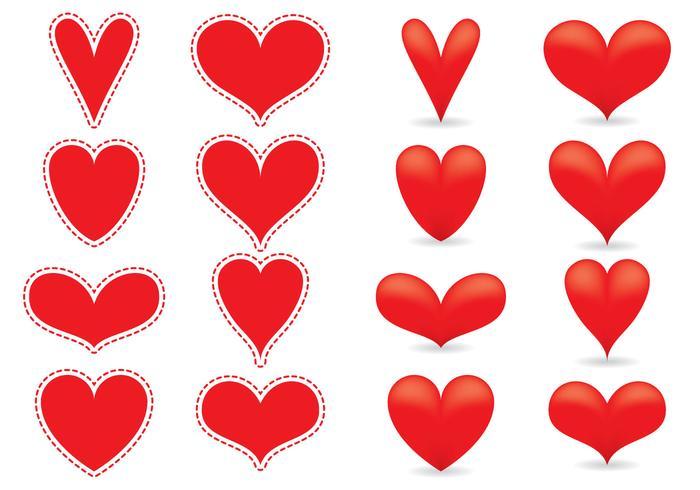 Rote Herzvektoren vektor