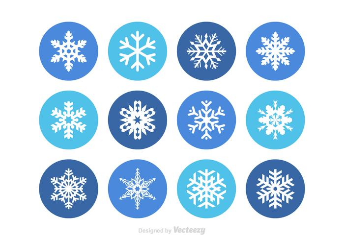 Free snowflake vector set