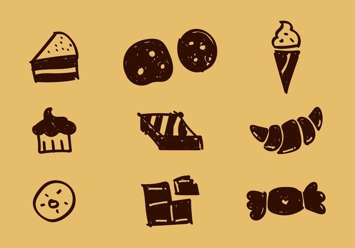 Freie bäckerei vektorikonen vektor