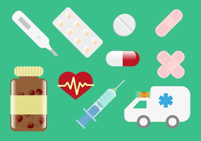 Pill Box Medicinska Illustrationer Vector