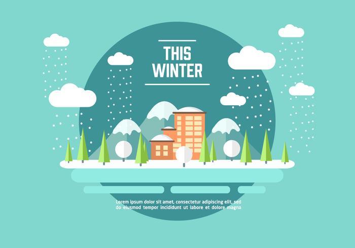 Vinter Äventyr Illustration Vektor