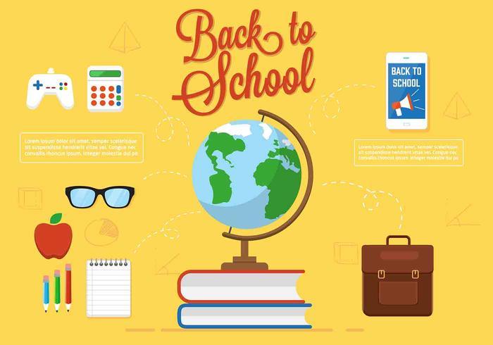 Free Vector Zurück zur Schule