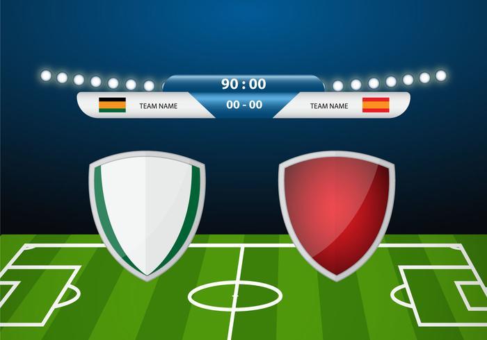 Free Soccer Match Dekor Vektor