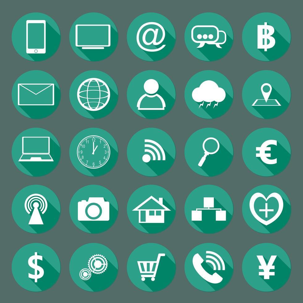 modern design samling av platta ikoner vektor