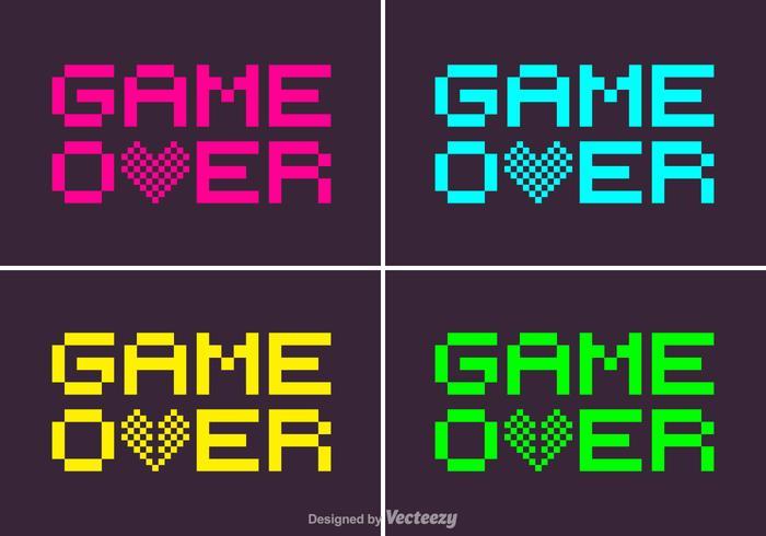 Kostenlose Pixel-Spiel über Vektor