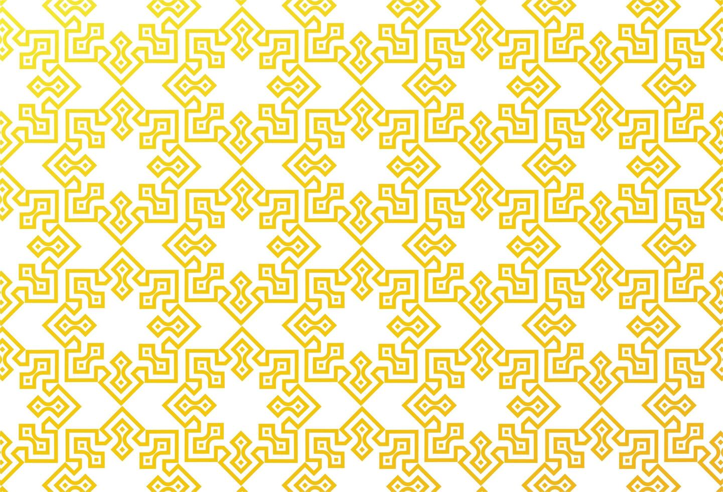 gelbes geometrisches islamisches Muster vektor