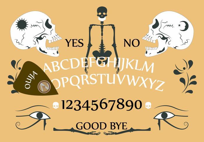 Ouija Vorstand in Vektor