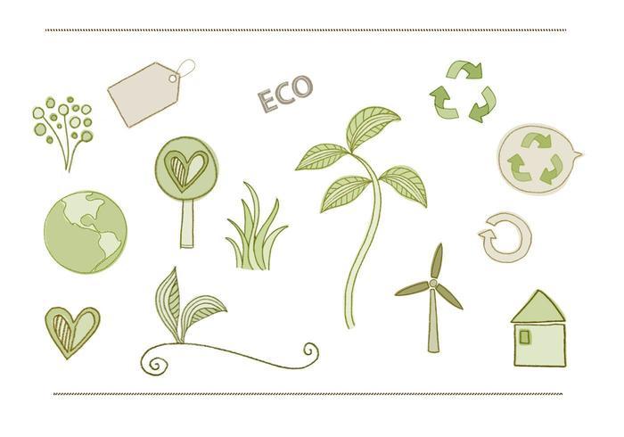 Eco - Miljövektorpaket vektor