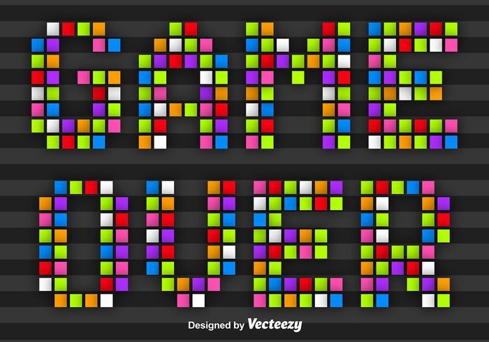 Färgrikt Pixel Game Över Message Vector