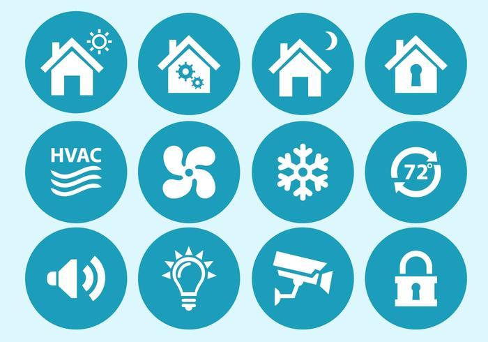 Home Automation und Sicherheit Interface Icons vektor