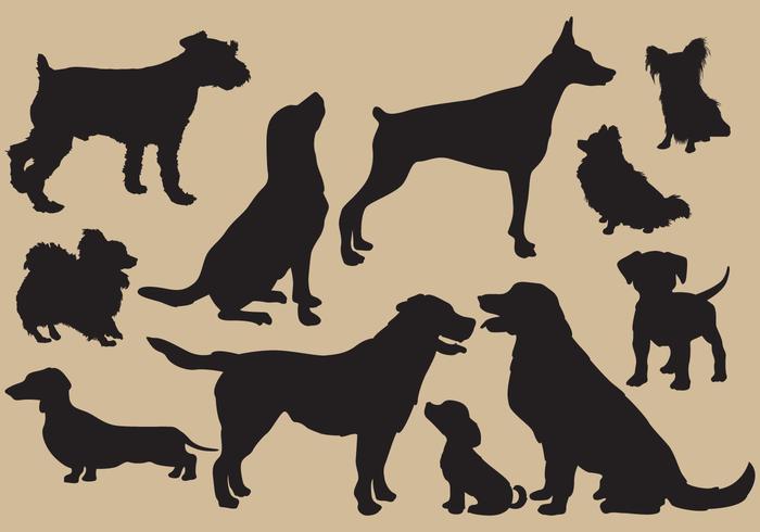 Dog Silhouettes vektor